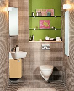 Små bad - små møbler -