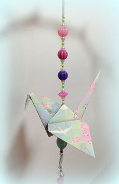 Image result for hanging origami cranes