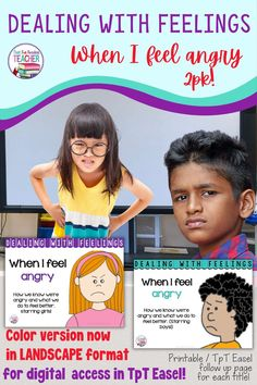 This Dealing-With-Feelings storybook lesson teaches kids how to recognize, express & manage anger. Read and assign follow up worksheet digitally through #TpTEasel, or print color or black and white versions! K-3+ #sel #education #TpT #DealingWithFeelings Social Skills Activities, Sight Word Activities, Class Management, Classroom Management, Life Skills, Life Lessons, Reading Buddies, Learning Patience, Social Emotional Learning