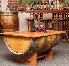 Gorgeous DIY Wine Barrel Coffee Table with Pictures Aida Homes