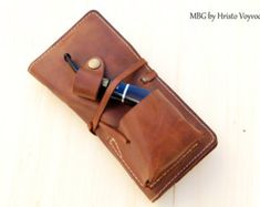 Leather Pipe & Tobacco Pouch in Black by SorringowlandSons on Etsy