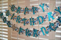 FROZEN theme banner by PoshBoxParties on Etsy