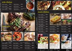 restaurant menu Restaurant Menu Vol 24 - Menu Restaurant, Turkish Restaurant, Restaurant Recipes, Menu Board Design, Cafe Menu Design, Food Menu Design, Food Truck Menu, Menu Layout, Bistro Food