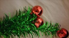 Green Christmas Tree Picks with Red Plastic Bulbs on Tips Garland Wreaths Floral Metallic Crafts New by wasminenowyours on Etsy