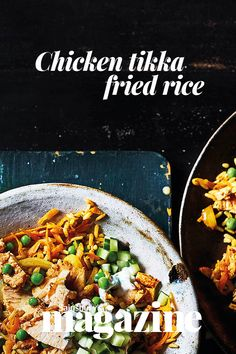 Perk up your midweek meals with our speedy chicken tikka fried rice Weeknight Dinners, Healthy Dinners, Quick Meals, Healthy Food, Savoury Recipes, Easy Recipes, Cooking Recipes, Healthy Recipes, African Recipes