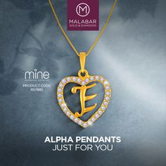 The unique collection of Alpha pendants from Malabar Gold & Diamonds exudes delicacy, class and elegance.