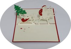 Santa Claus 3 - 3D Pop Up Cards - Greeting Cards - Ovid Gifts