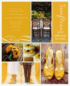 pantone sunflower inspiration board