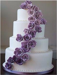 Stunning lavender wedding cake...