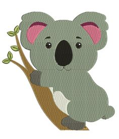 Cute Koala Machine Embroidery File Design for by LuminariaDesigns