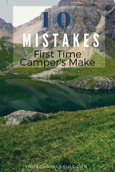 Camping for the first time can sometimes be challenging because you don't know what to bring. So we have constructed a list of these mistakes many first-time campers (including ourselves) forget about the first time they go camping. First Time Camping, Weekend Camping Trip, Camping Guide, Camping Checklist, Go Camping, Camping Hacks, Outdoor Camping, Travel Destinations, Rv Travel