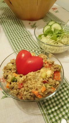 vegán lencsesaláta Fried Rice, Fries, Paleo, Vegan, Ethnic Recipes, Food, Meal, Essen, Hoods