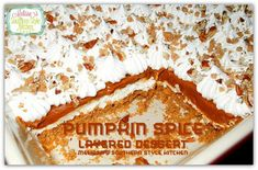 Pumpkin Spice Layered Lush is a seasonal version of one of my favorite desserts o make and serve. Layers of cream cheese, pumpkin spice pudding and plenty of whipped cream.