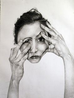 Gillian Lambert, Hands, Graphite on paper, 2011