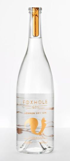 UK producer Foxhole Spirits has launched a gin distilled with English wine grapes. related to Product launches, Spirits, Wine, Beverage Packaging, Bottle Packaging, Packaging Ideas, Gin Mixers, English Wine, Gins Of The World, Gin Tasting, Craft Gin, London Dry Gin