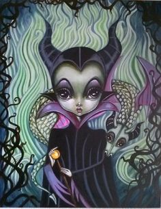 Maleficent by Lauren Saxton (Fair Rosamund Art).