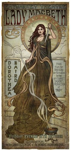"notophelia: "" A Pastiche of an Edwardian Theatre Poster by Aly Fell """