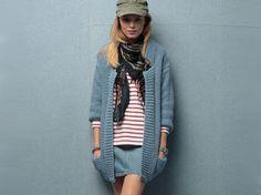 Un long gilet à tricoter