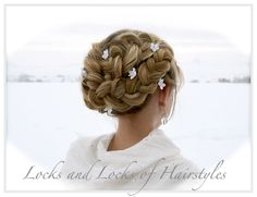 Locks and Locks of Hairstyles: Romantic Braided Up-Do video tutorial. It actually doesn't look too hard.
