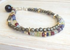 Full of Color… Pyrite and Multi Gemstone Multi Strand Bracelet by LoveandLulu, $58.00