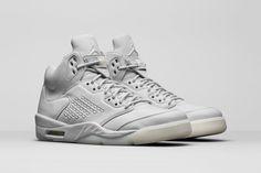 """スーパークリーンな Air Jordan 5 """"Pure Platinum"""" モデルのビジュアルが登場 #airjordan5 #nike #fashion #sneaker #shoes"""