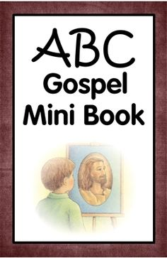 ABC Gospel Mini book for young kids.  Great way to keep them quiet during church meetings.