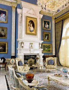 Sitting room in palatial neoclassic style 1.