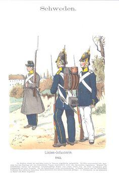 Band VII #10 -Schweden - Linien Infanterie 1845