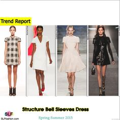 Structure Bell Sleeves Dress Trend for Spring Summer 2015. Rachel Zoe, Carolina Herrera, Bibhu Mohapatra, and Louis Vuitton Spring Summer 2015. #Fashion #SS2015 #SS15
