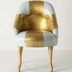modern armchairs by Anthropologie #gold #furniture @Charity Briere @Gelato Kisses