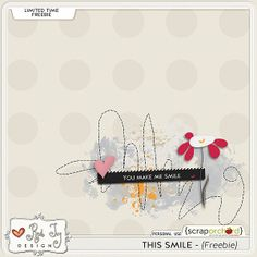 This Smile freebie from Red Ivy Designs