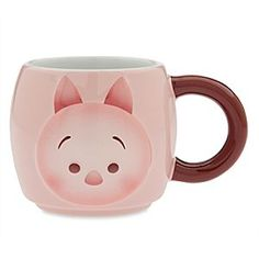 Disney Piglet ''Tsum Tsum'' Mug | Disney StorePiglet ''Tsum Tsum'' Mug - The timid little Piglet makes a bold appearance on this large mug. Inspired by ''Tsum Tsum'''s sweet style artwork, this stackable ceramic cup features a raised design that adds an extra dimension of fun.
