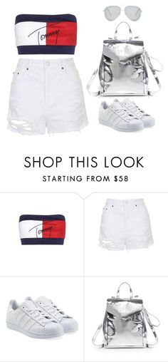 """""""Untitled #1637"""" by chrissiedinh8 ❤ liked on Polyvore featuring Tommy Hilfiger, Topshop, adidas Originals, Loeffler Randall and Victoria Beckham"""