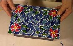 Como Fazer Caixa de Papelão com Falso Mosaico