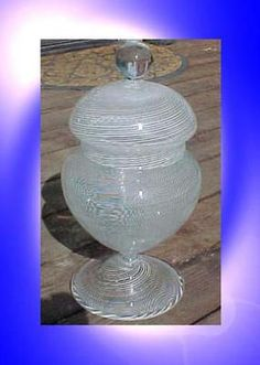 "15"" Vintage 1960's Hand Blown Merchant Candy Dish Murano Italian Art Glass 