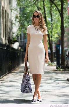 Simple lady dress with nice accessories
