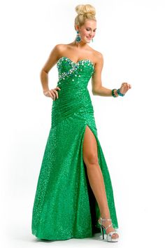 Drop Waist Party Time Prom Gown 6133