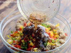 Quinoa, Corn and Capsicum Salad recipe Healthy Grains, Healthy Food, Healthy Recipes, Making Quinoa, How To Cook Quinoa, Lemon Herb, Innovative Ideas, Quinoa Salad, Food Photo