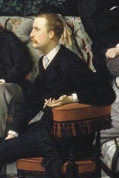 """James Tissot """"Le Cercle de la Rue Royale (detail) - Marquis Charles Alexandre de Ganay"""""""