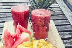 Check out Smoothie of watermelon and pineapple by Marian Kadlec on Creative Market