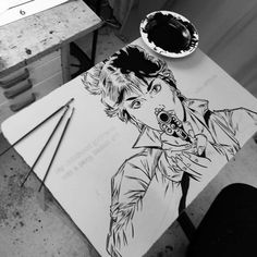 """""""My childhood girlfriend"""" / making of an lithography 2016"""