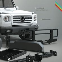 The G-wagen bull bar / winch bumper protects your vehicle from crossing animals, brush and branches. Winch Bumpers, Mercedes Benz G Class, Bull Bar, Steyr, Cool Cars, Dream Cars, 4x4, Super Cars, Jeep