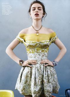 Tali Lennox in the January 2013 issue of Vanity Fair Spain.  Photographer: David Slijper.
