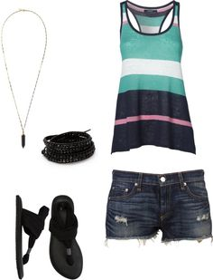 """casual summer wear"" by marycat84 on Polyvore"