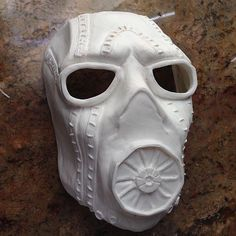 First pull from the Borderlands Pyscho mold. Cast with @smoothon Smooth Cast 65d. This guy is cleaned and ready for its paint job. #borderlands2 #psycho #bandit #smoothon #mask #costume #cosplay #halloween #sculpt #mold #handmade : @b3designs