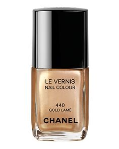 chanel gold lame