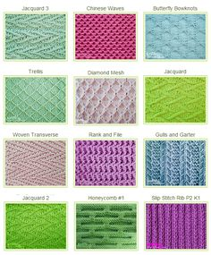Slipped Stitch Patterns you can use for any project. Try one in a shawl/wrap, afghan or simple sweater. List of Over 40 Beautiful Slip Stitch Patterns. Trellis would be good for mermaid scales Switch Two Colour Slip-Stitch Knitting How to read a knitting Slip Stitch Knitting, Knitting Stiches, Knitting Charts, Easy Knitting, Loom Knitting, Knitting Patterns Free, Knit Patterns, Crochet Stitches, Purl Stitch