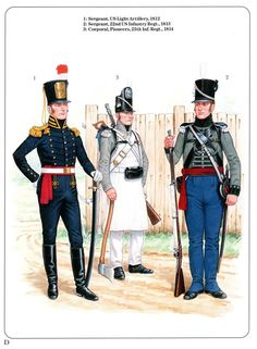 Napoleonic Military Paintings/Sketches/Uniform Plates - page 4 - Historical Discussion - Flying Squirrel Entertainment American Uniform, British Army Uniform, American Civil War, American History, Us Army Uniforms, Independence War, Crusader Knight, War Of 1812, Army & Navy