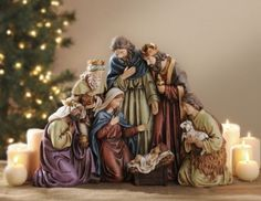 Curved Nativity Scene from Kirkland's Christmas Nativity Set, Christmas Love, A Christmas Story, Christmas Greetings, Christmas Traditions, Winter Christmas, Nativity Sets, Celtic Christmas, Navity Scene