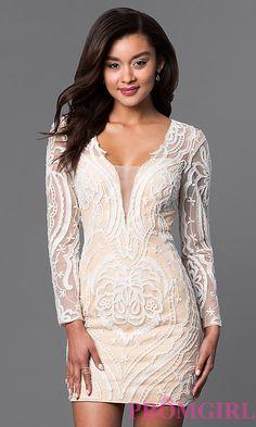 Long Sleeveless Lace Embellished Short Dress. Plus Size Formal DressesShort  DressesDesigner Cocktail ... 485619f48f04